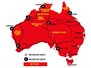 4wd map